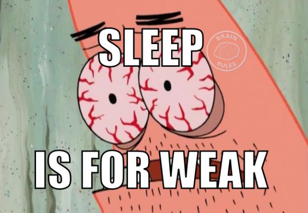 sonno e studio - sleep is for weak meme