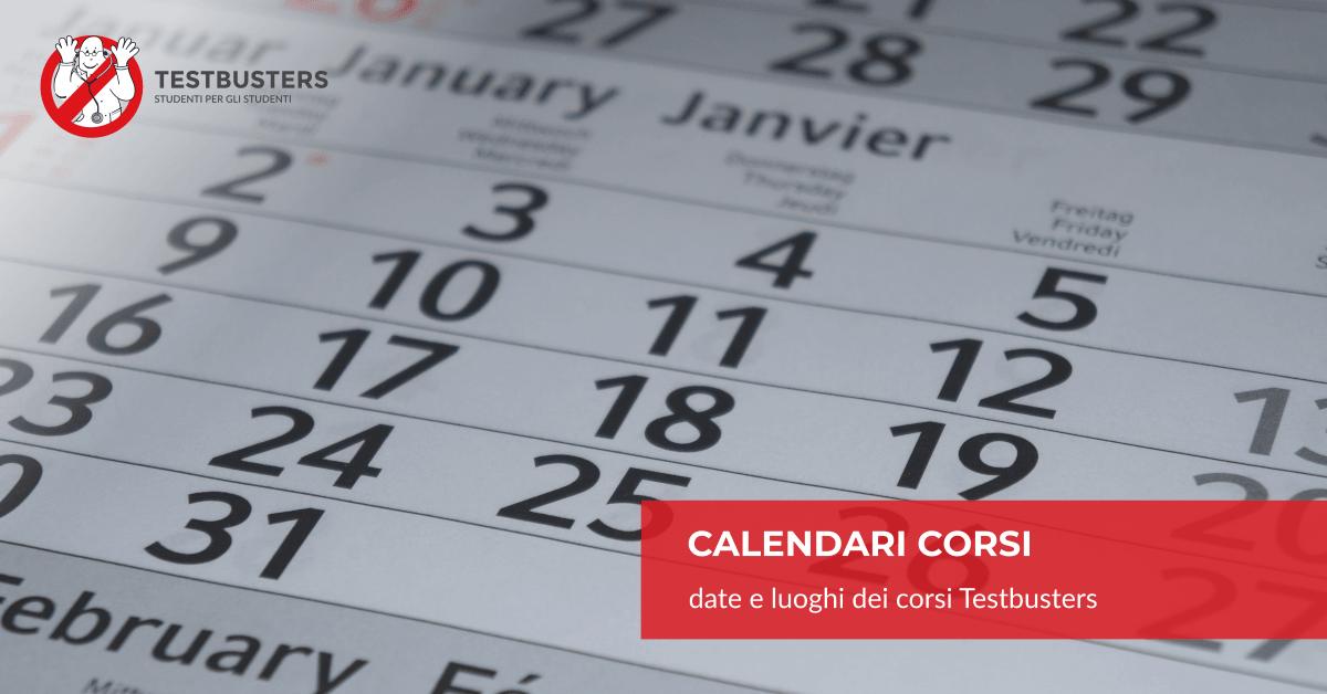 Unisa Medicina Calendario Esami.Calendari Corsi Testbusters