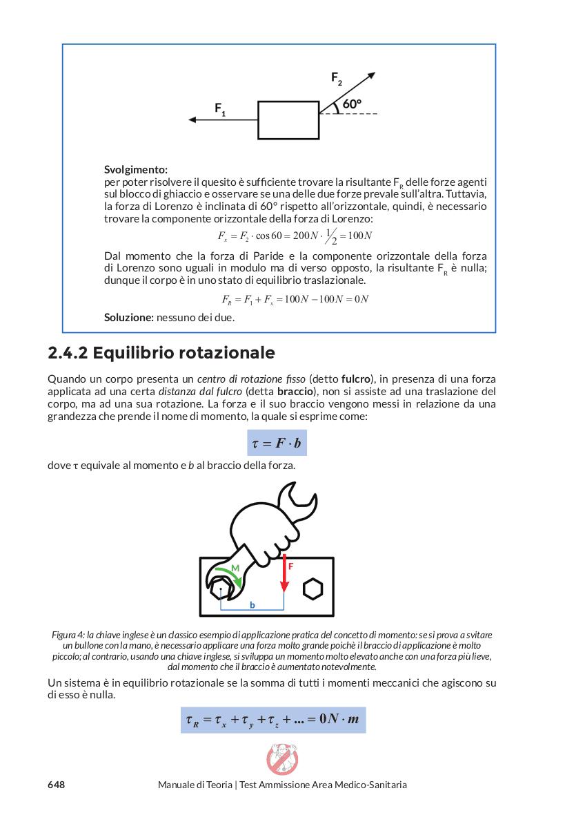 Matematica e Fisica - equilibrio rotazionale
