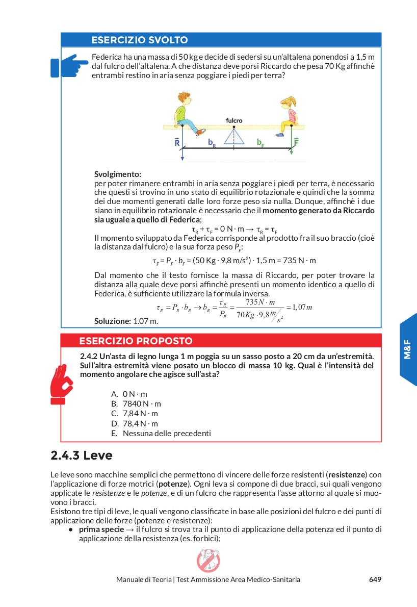 Matematica e Fisica - leve