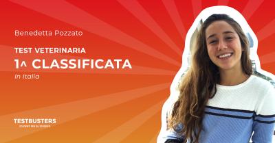 Test di Veterinaria 2019: Benedetta, prima classificata in Italia